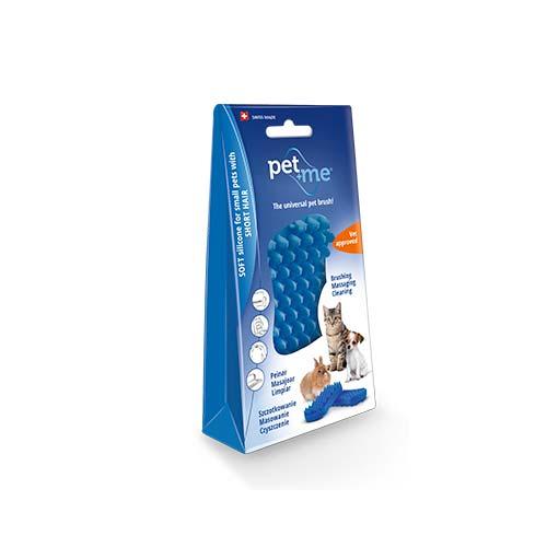 0f7e2ddee33f Βούρτσα από 100% ιατρική σιλικόνη για μικρόσωμους σκύλους και γάτες με  κοντό τρίχωμα και για