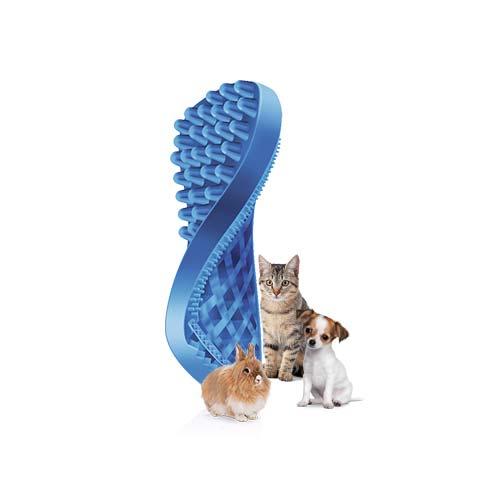 9e5e75ce135c ... Βούρτσα από 100% ιατρική σιλικόνη για μικρόσωμους σκύλους και γάτες με  κοντό τρίχωμα και για ...